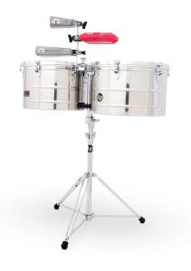 Latin Percussion LP1516-S Timbals Prestige Stainless Steel