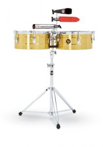 Latin Percussion LP256-B Timbals Tito Puente Solid Brass
