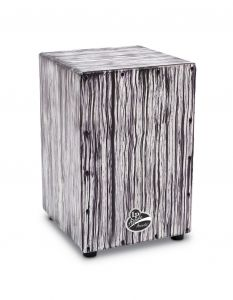 Latin Percussion LPA1332-WS Cajon Aspire Accents White Streak