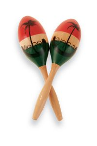 Latin Percussion CP287 Maracas CP  Wood Painted