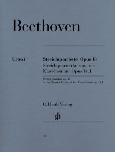 String Quartets op. 18,1-6 and String Quartet-Version of the Piano Sonata, op. 14,1