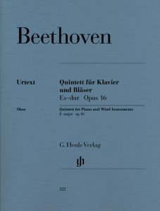 Piano Quintet E flat major op. 16 (Version for Wind Instruments) for Piano, Oboe, Clarinet, Horn and Bassoon