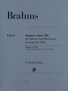 Sonatas for Piano and Clarinet (or Viola) op. 120, 1 and 2 (version for Viola)