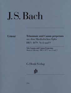 Trio Sonata and Canon Perpetuus from the musical offering für Flute, Violin and Basso Continuo, BWV 1079 N° 8 and 9