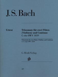 Trio Sonata for two Flutes and Basso Continuo in G major BWV 1039 with reconstructed version for two Violins