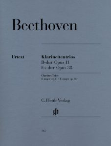 Clarinet Trios B flat major op. 11 and E flat major op.  38 for Piano, Clarinet (or Violin) and Violoncello