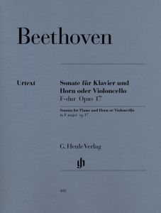 Sonata F major op. 17 for Piano and Horn (or Violoncello)