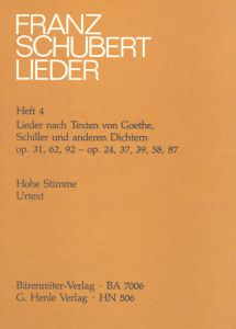 Songs with Lyrics by Goethe, Schiller and other Poets