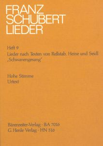 Songs with Lyrics by Rellstab, Heine and Seidl