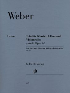 Trio g minor op. 63 for Piano, Flute and Violoncello