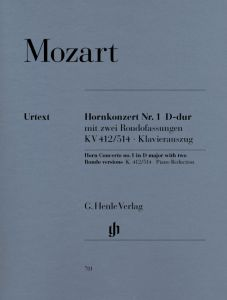 Concerto for Horn and Orchestra No. 1 D major K. 412/514