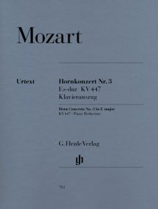 Concerto for Horn and Orchestra No. 3 E flat major K. 447 (with parts in E flat and F)