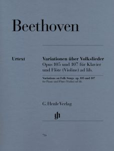 Variations on Folk Songs for Piano and Flute (Violin) ad lib. op. 105 and 107