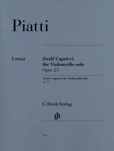 12 Capricci op. 25 for Violoncello solo