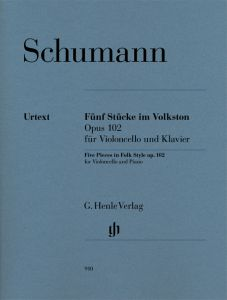 Five Pieces in Folk Style op. 102 for Violoncello and Piano