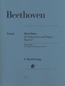 Three Duos for Clarinet and Bassoon WoO 27