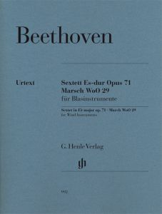 Sextet in E flat major op. 71 and March WoO 29 for for 2 Clarinets (B flat), 2 Bassoons and 2 Horns (E flat/B flat and F)