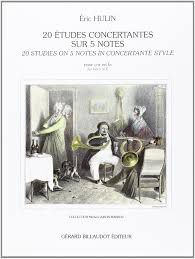 HULIN E. 20 ETUDES CONCERTANTES SUR 5 NOTES French Horn in F