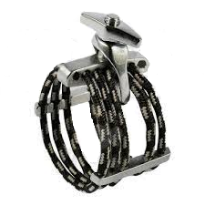 SILVERSTEIN LH08B BRUSHED SILVER LIGATURE FOR ALTO SAX