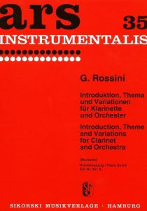 Rossini, G. - INTRODUKTION, THEMA UND VARIATIONEN for clarinet and piano
