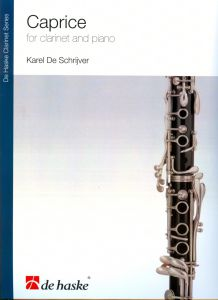 K. DE SCHRIJVER - CAPRICE FOR CLARINET AND PIANO